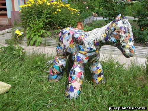Фигурки для сада из пластиковых